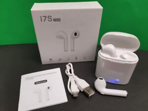 Bluetooth airpods with charge pod and charge cable