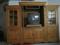 Armoir Solid Pine Wood Display Units NEGOTIABLE