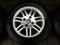 4 NICE ALLOY WHEELS WITH GOOD TYRES
