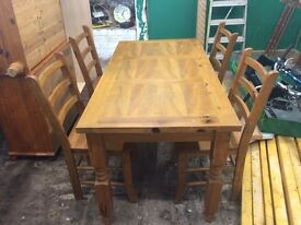 Stunning Solid Wood Dining Chairs & Table Set Farmhouse Shabby Chic Rustic CAN DELIVER