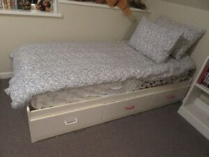 NEW PRICE:  WHITE CAPTAIN TWIN BED