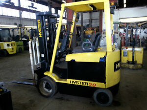 HYSTER & YALE Electric 4500, and 5000lb cap forklift