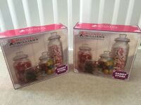 Glass candy jars for wedding buffet sweetie table baby shower or party