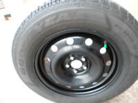 Winter Tires (4) on Rims Good Year Ultra Grip