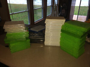 62 Game cases for Nintendo Wii, Xbox 360, PS3, etc. Empty. Windsor Region Ontario image 1