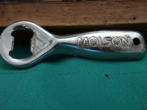 vintage Molson's bottle opener, glass, mug and bar sign Cornwall Ontario image 2