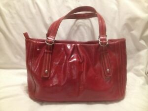 New Large Red All Leather Pelle Studio Shoulder Bag/Tote Bag