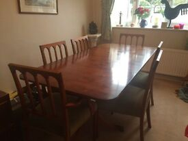 Strachan 6/8 people dining table and chairs
