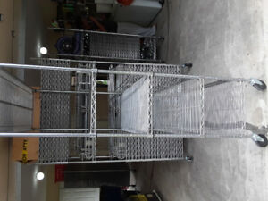 Steel wire shelving 7f×2f on wheels call 6043392519
