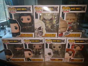 MINT COLLECTION OF FUNKO POP MOVIES MAD MAX FURY ROAD!!