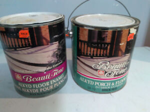 Two Gallons of Red Brick Cement Floor Paint
