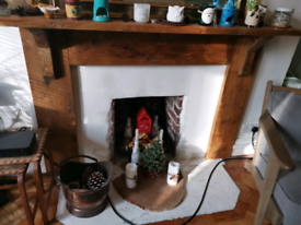 Fireplace mantle for sale. 125£