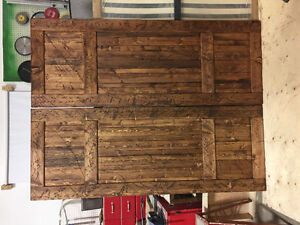 New quality custom made rustic barn style solid wood doors