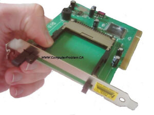 PCMCIA to PCI card adaptor. for older PCMCIA cards in your PC