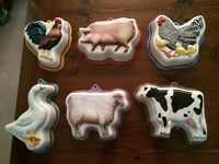 Franklin Mint Country Animal Molds