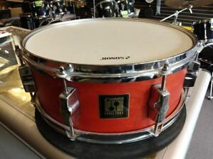 "Sonor Snare 2003 caisse claire 14""x5.5"" orange - usagée-used"