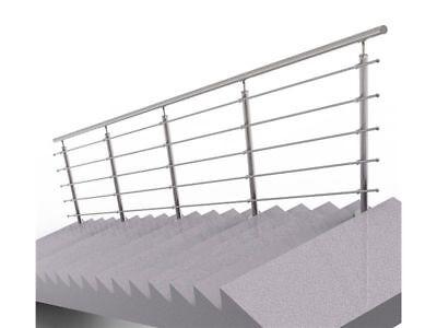 Treppengeländer Brüstung Treppe Bausatz Edelstahl Bodenmontage 6m*100cm