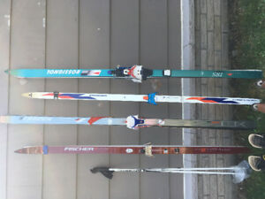 Cross country skis, boots & poles