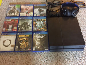 500GB PS4, Wireless Headset, and 9 Games
