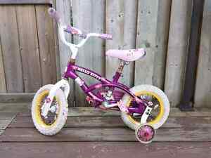 Well used Hello Kitty bike