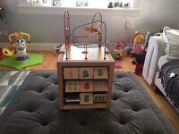 Children's wooden activity cube