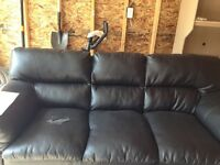 Black 3 seat sofa on sale