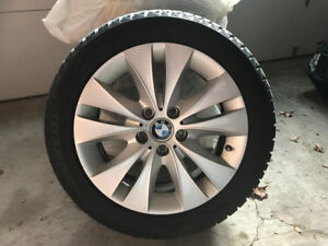REDUCED TO SELL QUICK - 4 Like New BMW Alloy Rims + Winter Tires