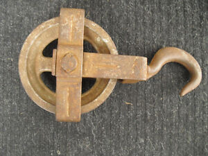 Vintage Cast Swivel Pulley (Heavy)