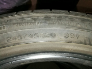 245/45/20 used Michelin tyres with more than 50% thread