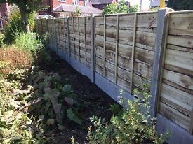 🌲Tanalised Wooden/ Timber Wayneylap Heavy Duty Fence Panels