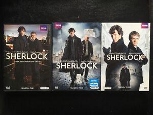 Sherlock Seasons 1-3 DVDs