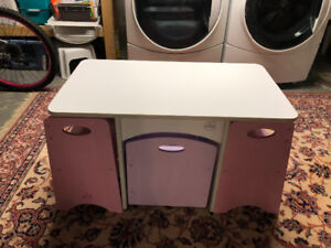 Kidcraft Girls Table and Bench Set with Storage Bin