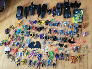 Marvel/DC figures and vehicles