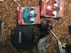 N64, 4 controllers and a memory card for sale!