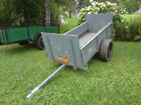 Trailer à vendre pour vtt ou tracteur à pelouse