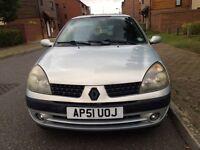 Renault Clio 1.2 petrol 1year mot good conditions