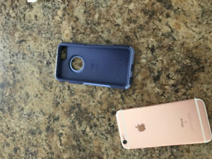 iphone 6s 32G Rose Gold in color with otterbox case