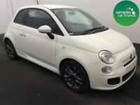 £155.10 PER MONTH WHITE 2014 FIAT 500 1.2 DUALOGIC S 3 DOOR PETROL MANUAL