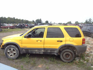 "PARTS AVAILABLE FOR A 2001 Ford Escape 4dr 103"" WB XLT 4WD"