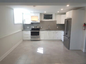NEW beautiful 9' Ceiling Basement Apartment - Avail. Now!!
