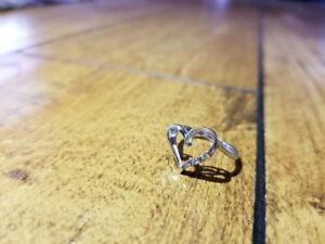 White Gold Diamond Ring - Size Four