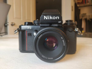 NIKON F3 HP 35mm Film Camera w/ NIKKOR 50mm 1.8D