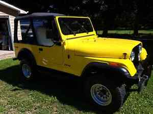 1977 Jeep CJ7 Restored 15 yrs ago with only 10,000 kms on build.