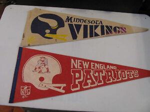 NFL  Vintage Pennants  Minnesota Vikings  1967 New England 1967