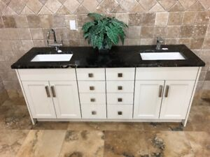 "72"" Locally Made Vanity w/ Granite Counter"