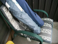 Patio Chair and 2 Fold-out chairs