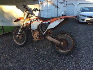 2014 ktm xcf-w 250 trade for motocross bike or nice Fourwheeler