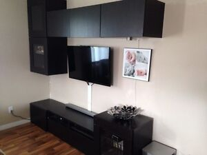 Ikea besta TV stand media storage cabinets