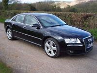 2006 06 Plate Audi A8 4.2 TDI Auto Quattro SE In Black , Tanned Leather