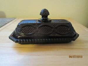 Vintage Avon Cape Cod Royal Ruby Red Covered Butter Dish